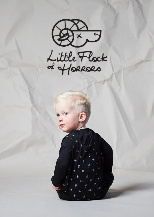 Littel Flock Of Horrors is merino for little monsters